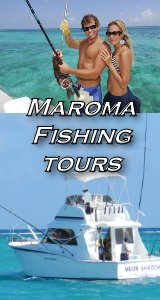 Tulum, Maroma and Playa del Carmen fishing boats