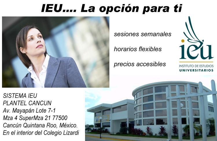 Cancun Sistema IEU Instituo estudios superiores