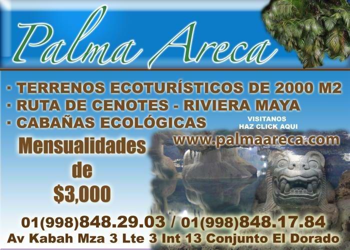 Lotes ecologicos Cancun Riviera Maya Cabanas